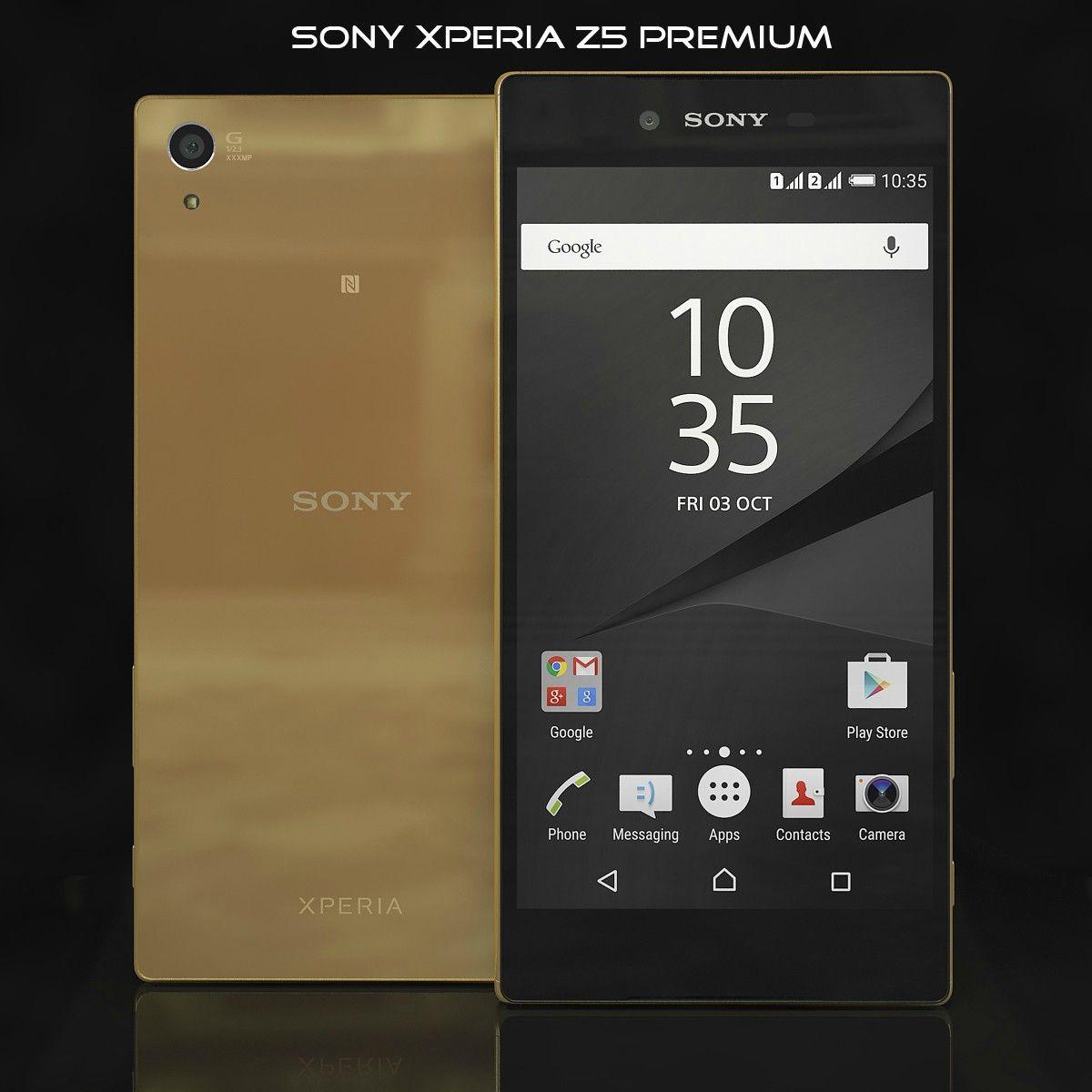 Sony xperia z5 premium gold   Smartphone 3d models   Sony