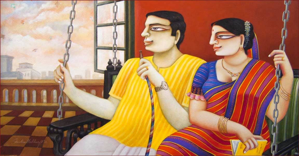Mithu Basu: Dolna recommends a great way to stART each day. Click for more information on artist Gautam Mukherjee and details of his works visit