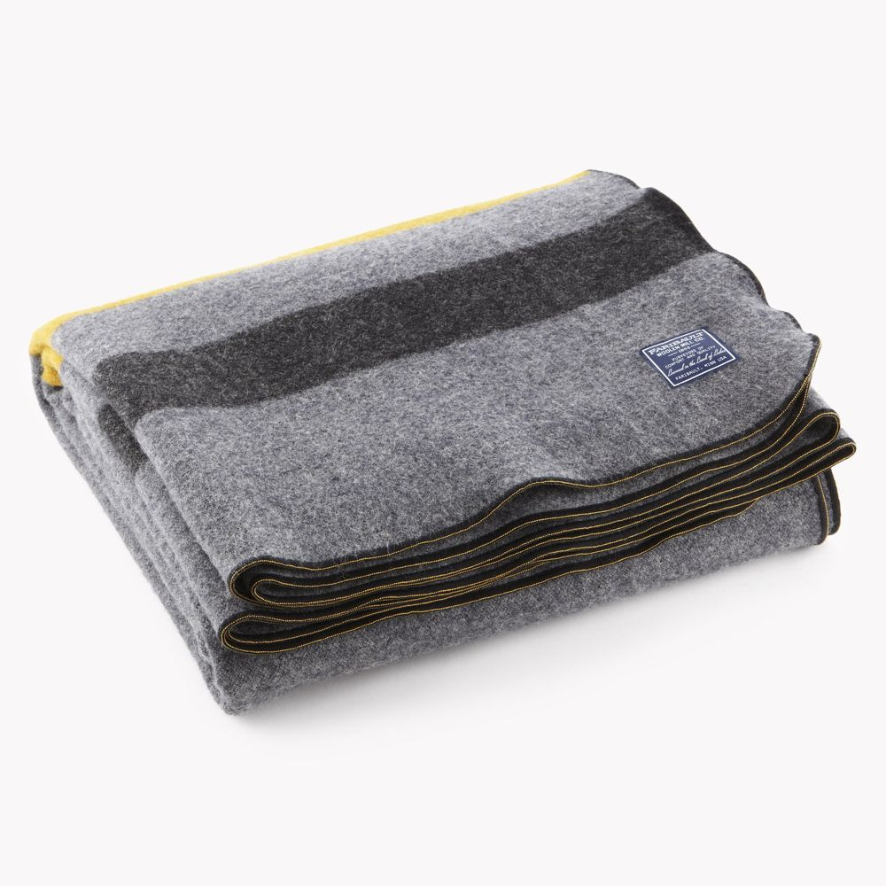 Foot soldier military wool blanketthrow cadet gray
