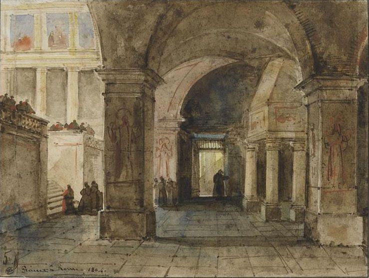 Interior of a church in Rome Francois-Marius Granet