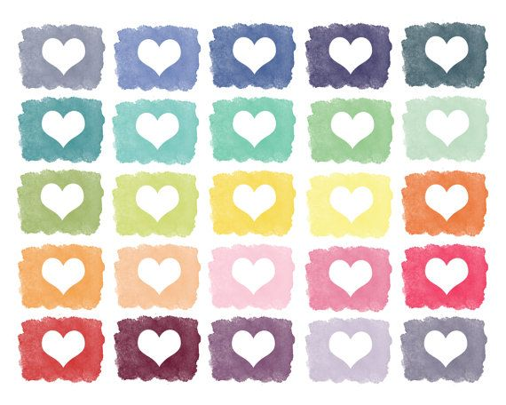 60% OFF SALE Digital Clip Art  Clip Art Hearts  Spring Summer Clipart  Love Wedding Clipart  Paint Clipart  Painted Hearts