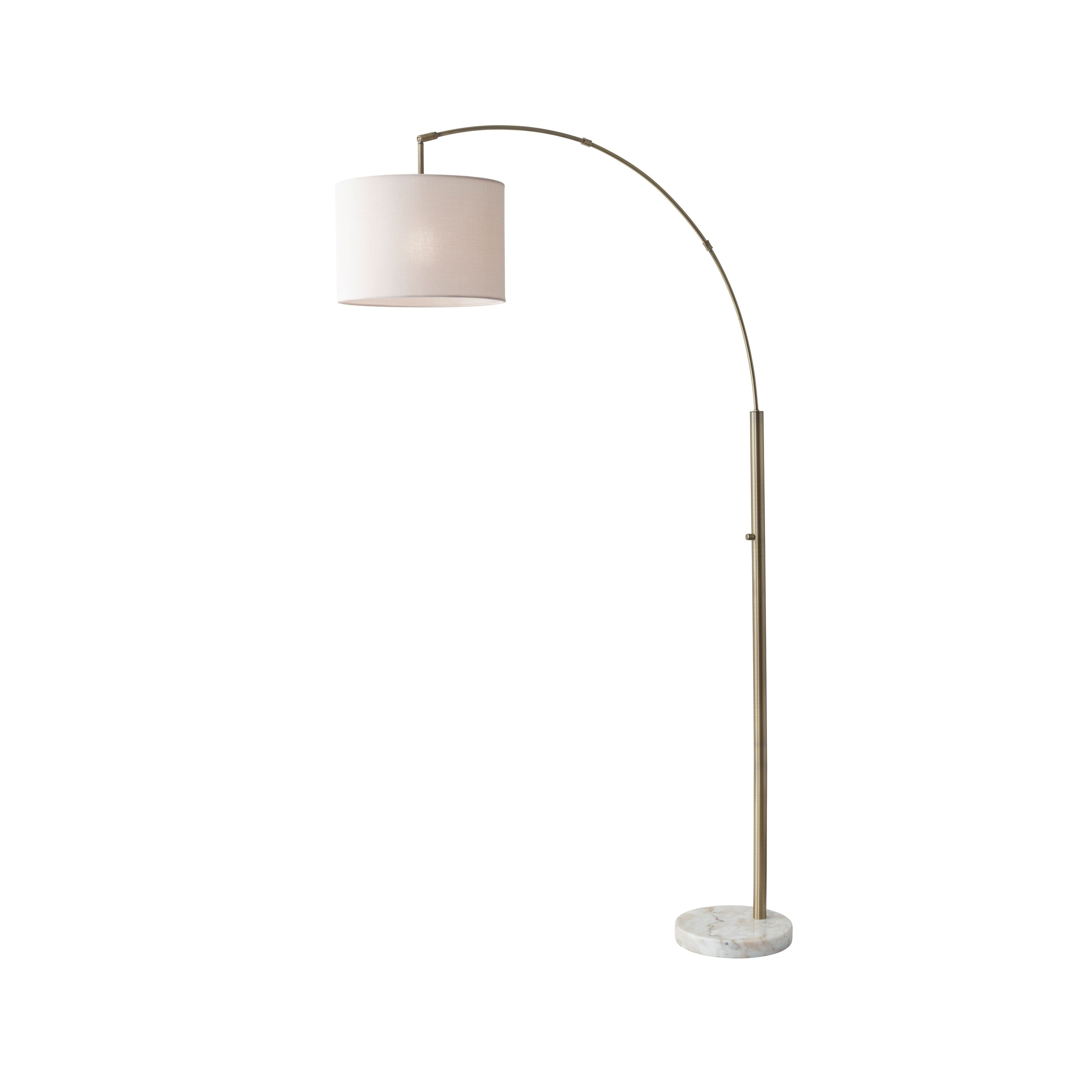 Adesso Bowery Arc Lamp (Brushed Steel), Brushed Silver | Arc