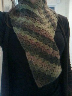 October Scarf Diagonal Block Stitch Pattern By Suzetta Williams