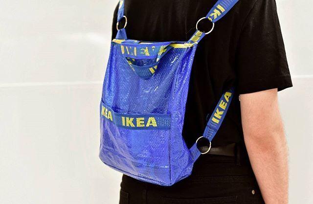 Websta Bjnsk Ikea Frakta Backpack Iiiph Isabelmagdic Ikea Ikeabag Ikeaclothes Balenciaga Vetemen Fashion Accesories Fashion Vetements Fashion