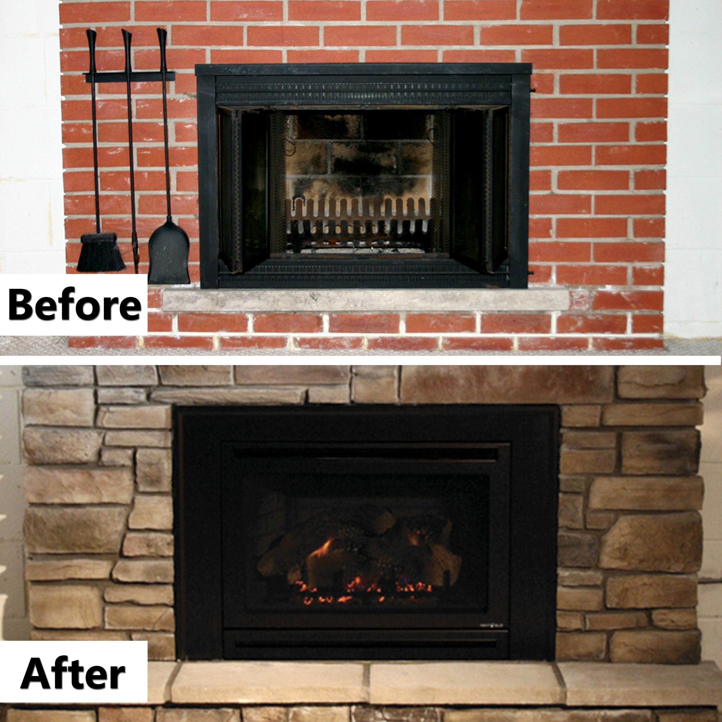 Gas insert and Gas fireplace