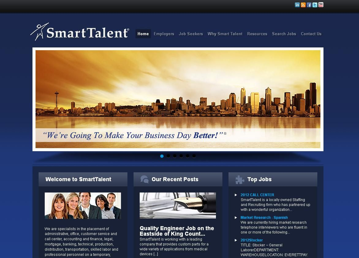 Web Design With Images Job Center Job Seeker Social Media