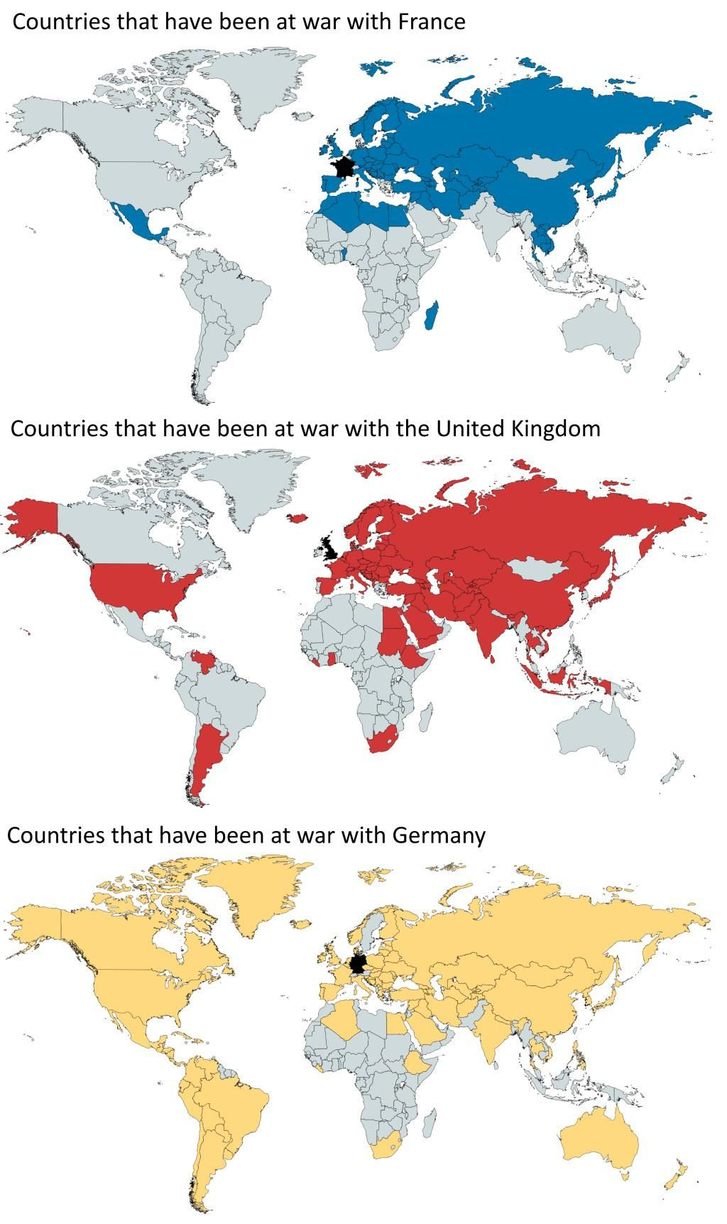 Countries That Have Been Ar War With France Uk Germany Maps Interestingmaps Interesting Germany Map Amazing Maps Map