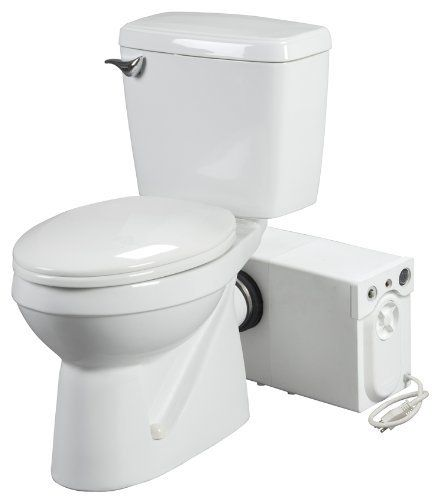 Bathroom Anywhere 38758 Macerating Toilet System Includes Toilet