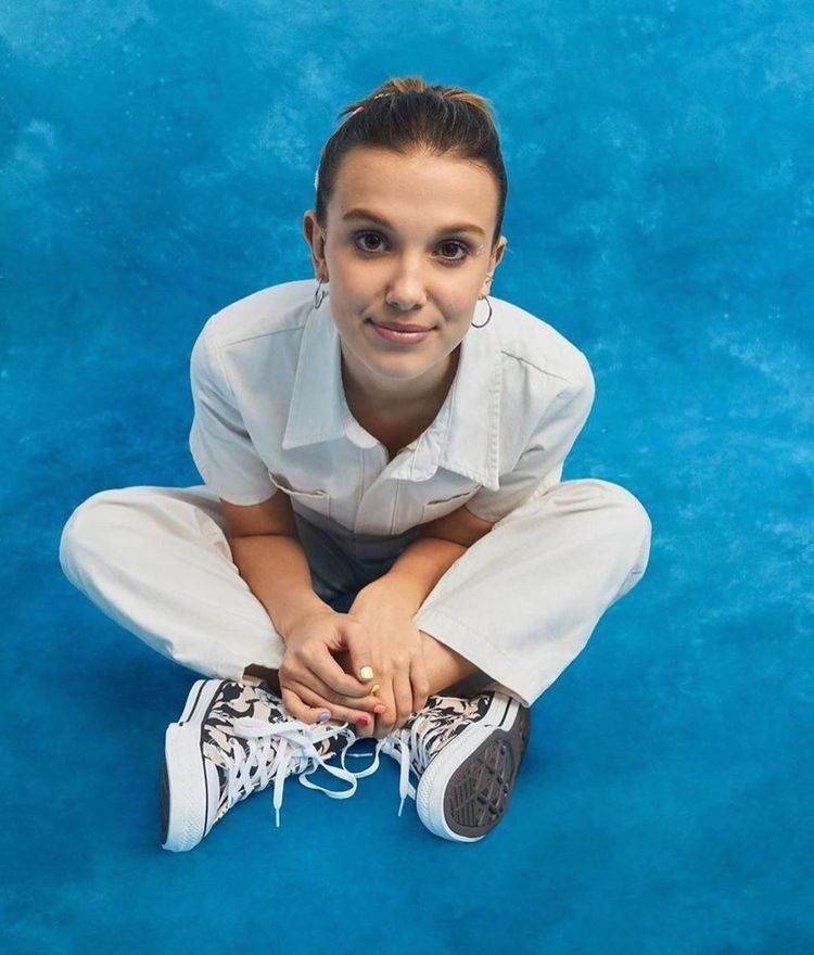 Image result for millie bobby brown and converse 2019 collab