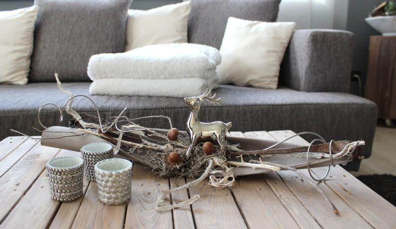he52 kokosblatt als tischdeko kokosblatt gebeizt dekoriert mit material aus der natur und. Black Bedroom Furniture Sets. Home Design Ideas