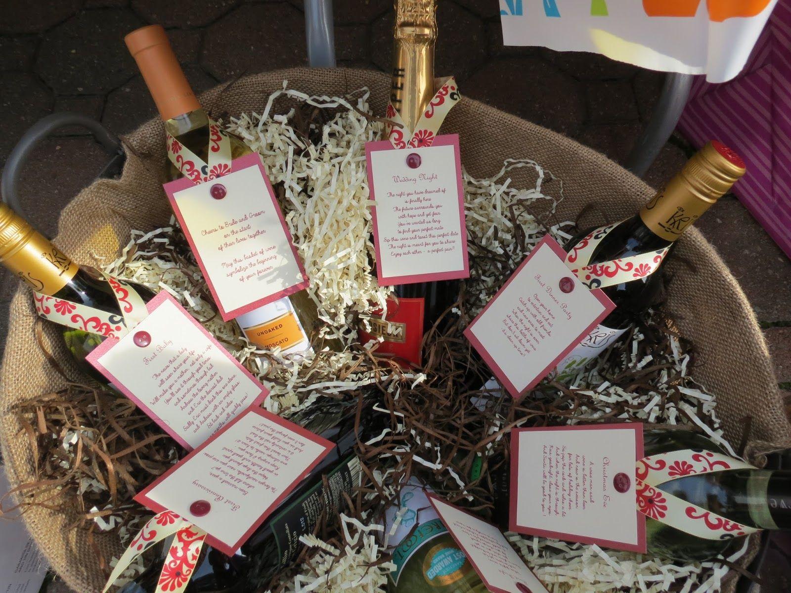 Wine Tags For Poem Basket Bridal Shower Perfect Gift Designed By Dani Alcantara