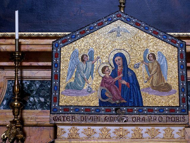 Rom, Sant'Ignazio di Loyola, Kapelle des hl. Christophorus, Madonna (St. Christopher's Chapel, Virgin Mary) by HEN-Magonza, via Flickr