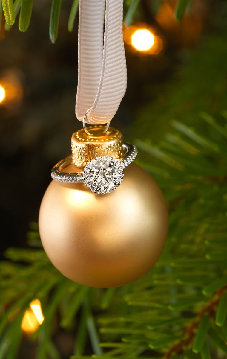 Diamond Ring Christmas Ornament
