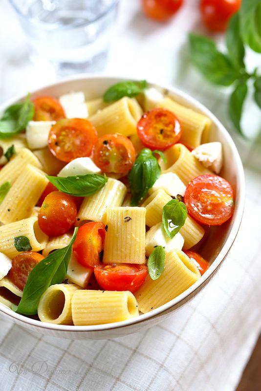 salade de p 226 tes tomates mozzarella alla checca mozzarella