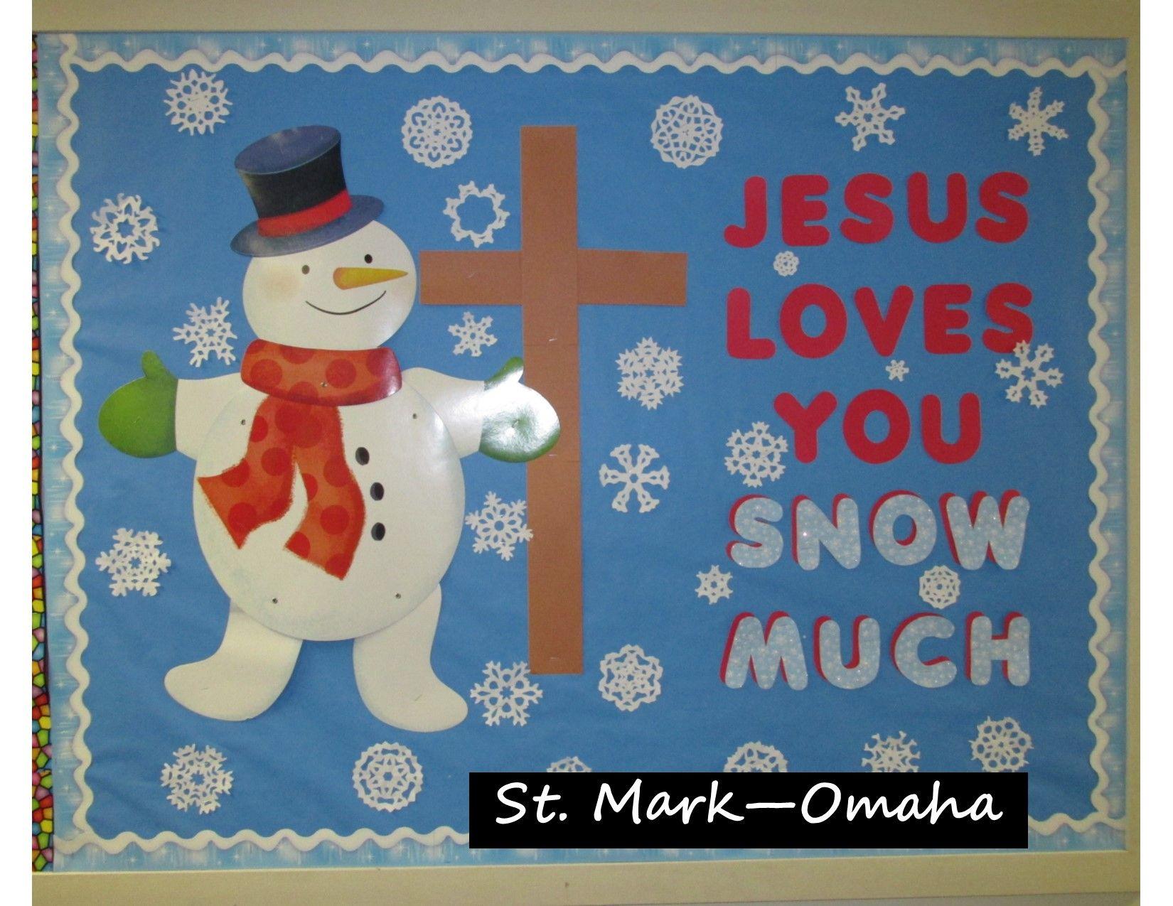 Sunday School Bulletin Board A Good Design For January Decorations Preschool Boards Winter