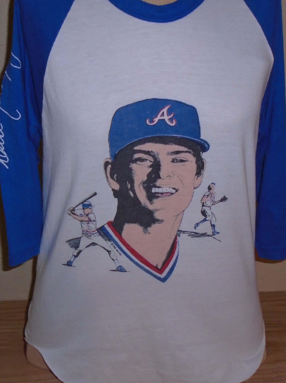 premium selection 72a5e 7266d Vintage 1980s Atlanta Braves Dale Murphy Raglan t shirt ...