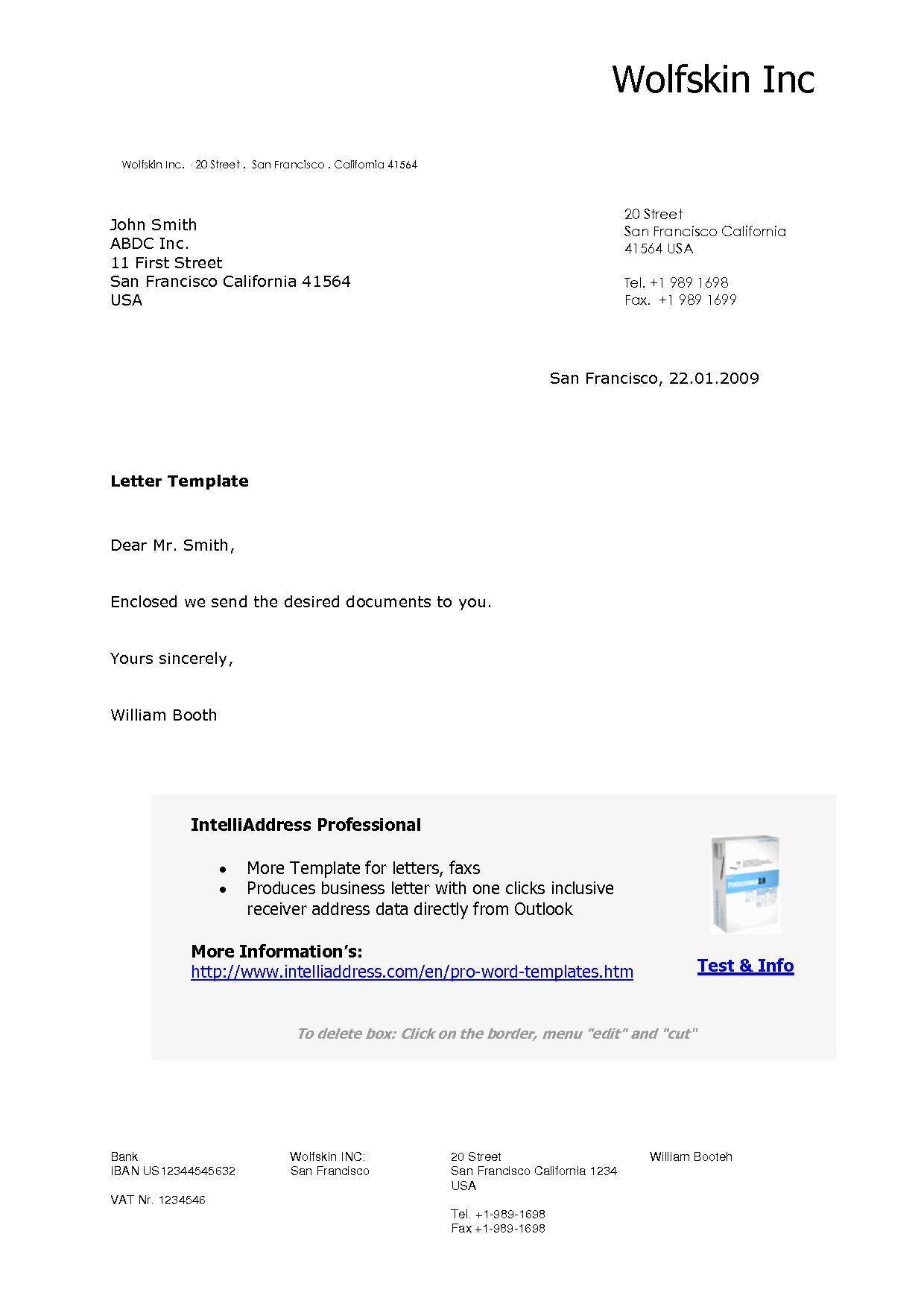 Business Letter Template Professional Format Automate Mail Merges