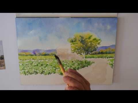 Les 4 Saisons A L 39 Aquarelle Part 4 L 39 Ete Watercolor