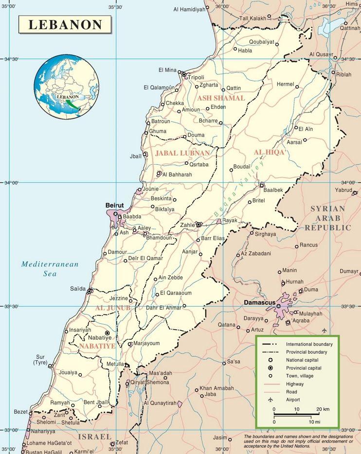 Lebanon political map maps pinterest lebanon lebanon political map sciox Gallery