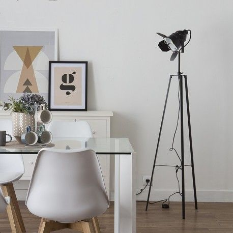 Spot lámpara de pie negra   Diseño salón cocina baño dormitorio ...