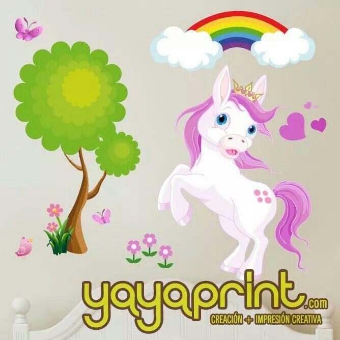 Vinilo con pony para decorar habitaci n ni a yayaprint for Stickers habitacion nina