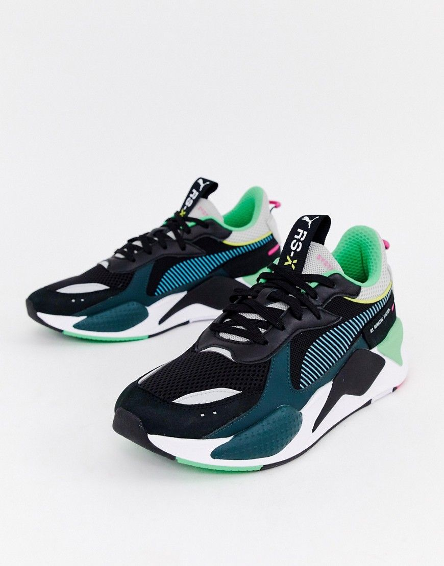 2d53bde8bfa PUMA RS-X TOYS SNEAKERS IN BLACK - BLACK.  puma  shoes
