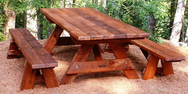 Miraculous Forever Eight Foot Picnic Table With Separate 8 Ft Benches Pabps2019 Chair Design Images Pabps2019Com