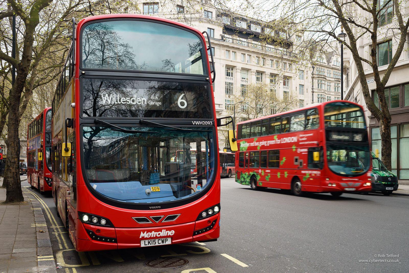 Metroline Vwh2093 London Bus London Transport London
