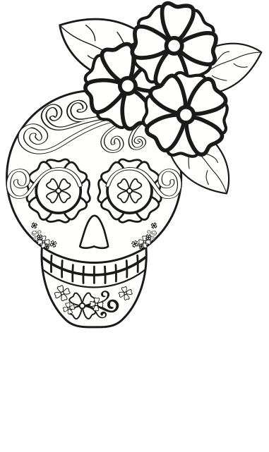 Dia De Los Muertos Coloring Pages | Calaveras día de muertos para ...