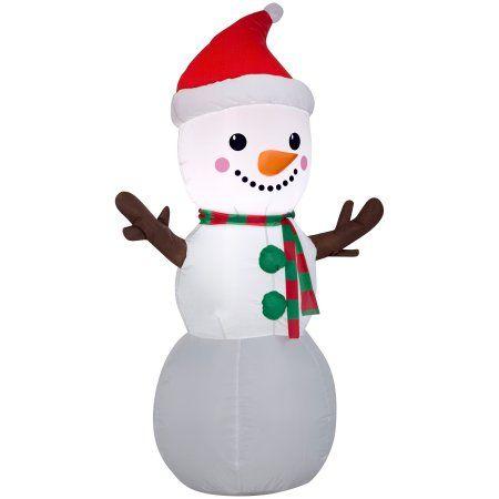Christmas Airblown 4\u0027 Snowman Inflatable - Walmart Charlee is