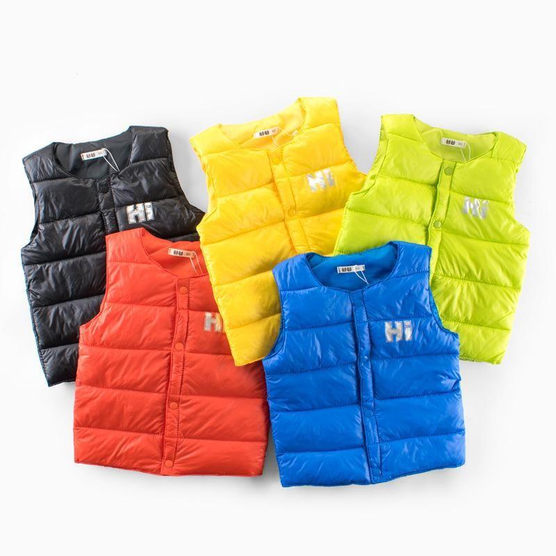 Sweater vest Autumn winter kids warm vest boy girl sleeveless baby toddler fashion Children's sport clothes is part of Clothes Winter Kids - children