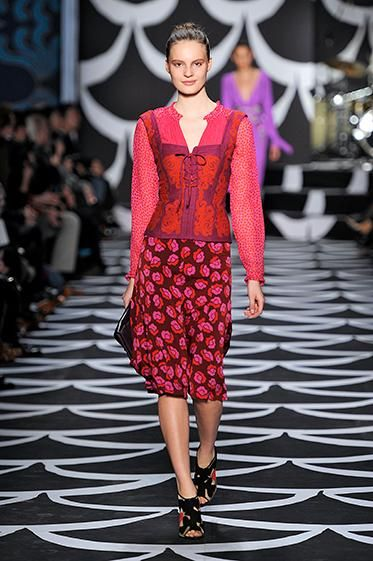 Look #17 Bohemian Wrapsody Fall 2014 #NYFW http://on.dvf.com/PINFALL2014