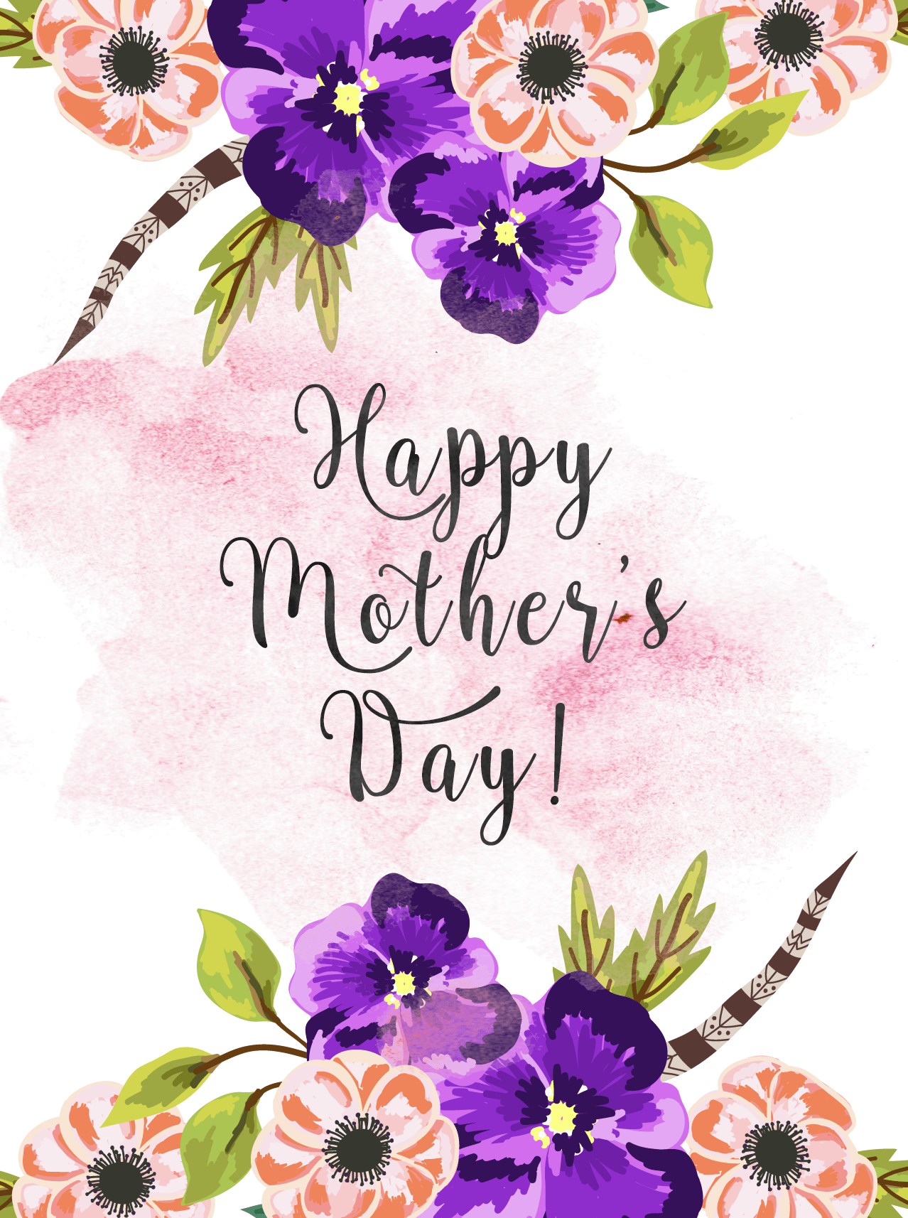 15 Cute Printable Mother S Day Cards Free