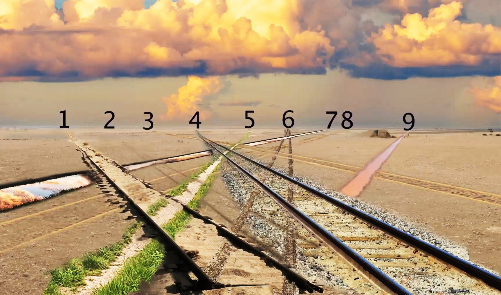 How to draw a 9 (nine) vanishing point perspective.