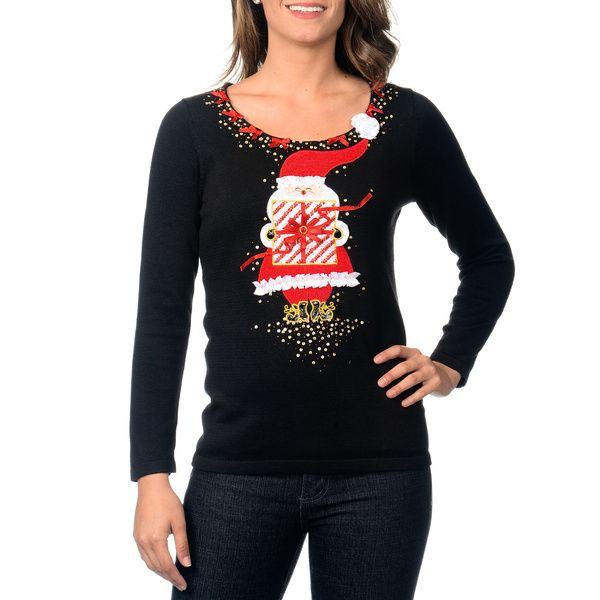Berek Women's Santa Holiday Sweater - Fun, festive, and who knows ...