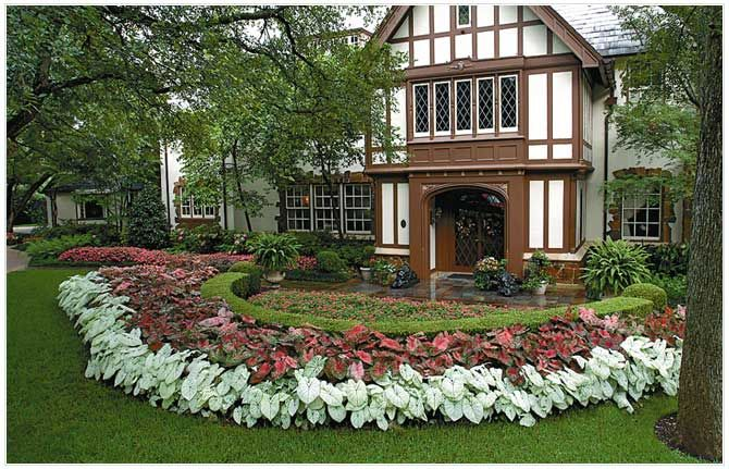 Swaths Of Color Tie The Design Together Garden Design Luxury Garden Front Yard Landscaping