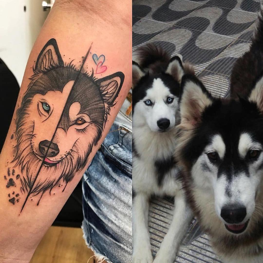 Huskies Tattoo Husky Tat Husky Tattoo Dog