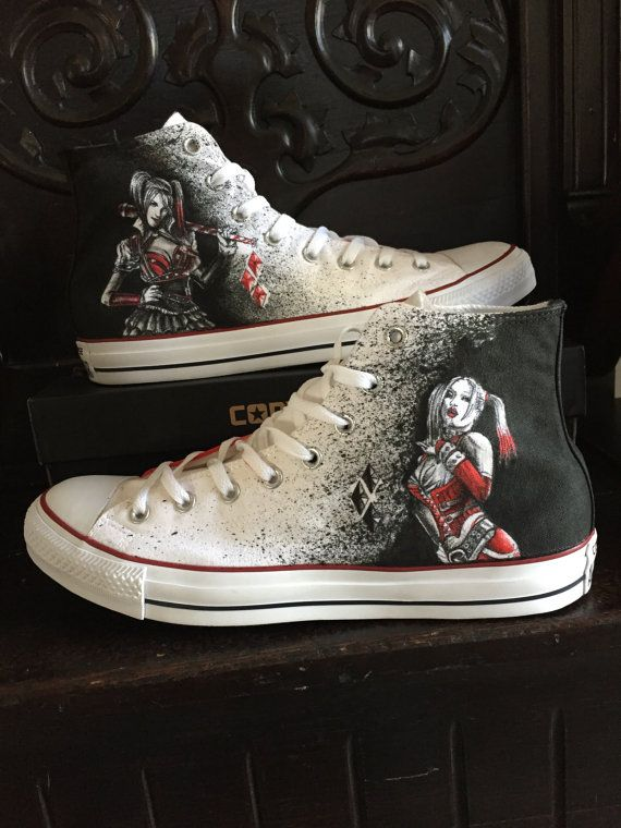 f1a3e40a0c19 Harley Quinn shoes Not Converse-off brand shoes by AlzadoCompany