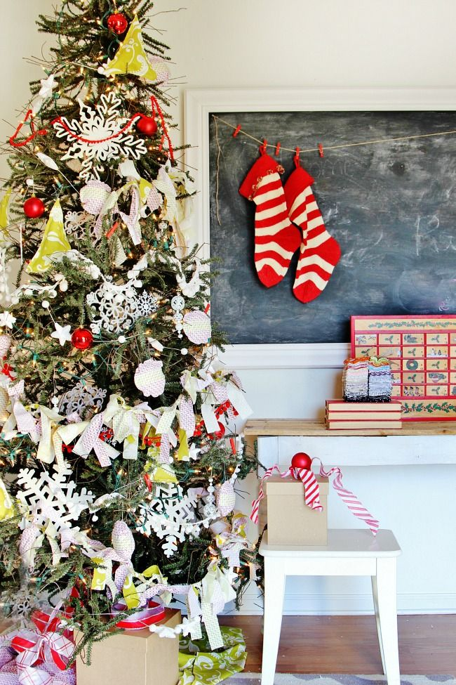 How to Decorate a Tree for Less and the Fabric Line is in Stores NOW
