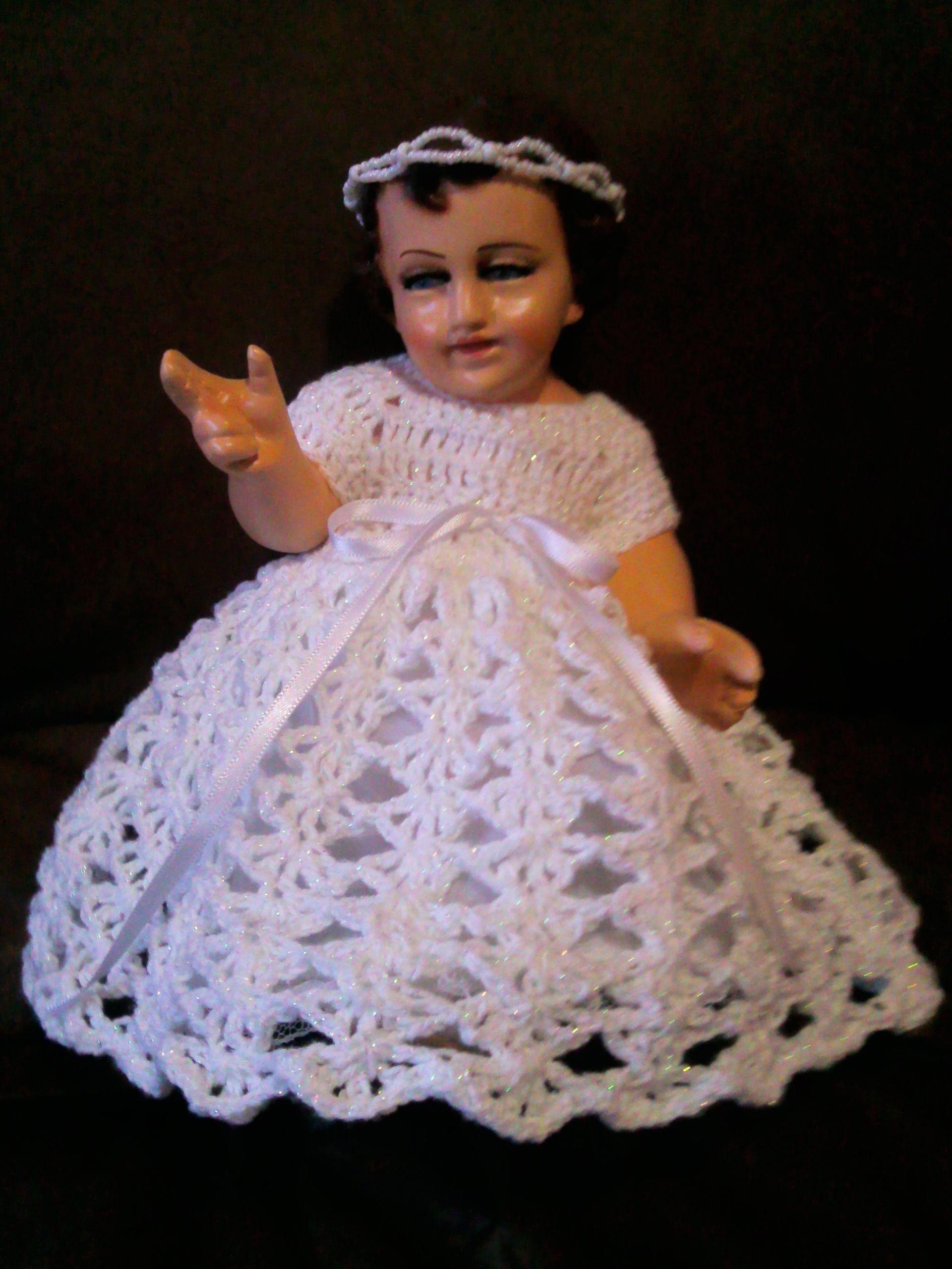 Crochet Vestido Niño Dios Ropa Niño Dios Crochet Baby