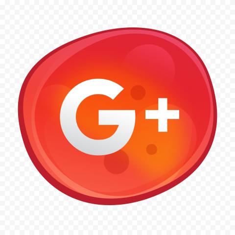 Google Plus G Icon Red Bubble Illustration Style Fashion Illustration Icon Illustration