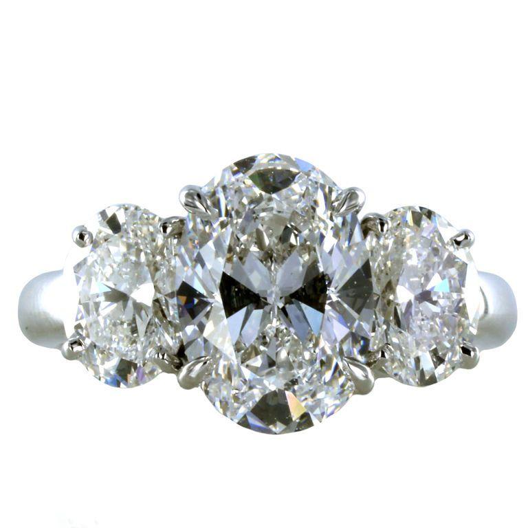 Brilliant 2.33ct Oval Diamond Ring