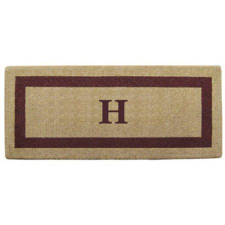 Inspired Accents Heavy Duty Coco Mat, Brown Single Picture Frame, Monogrammed