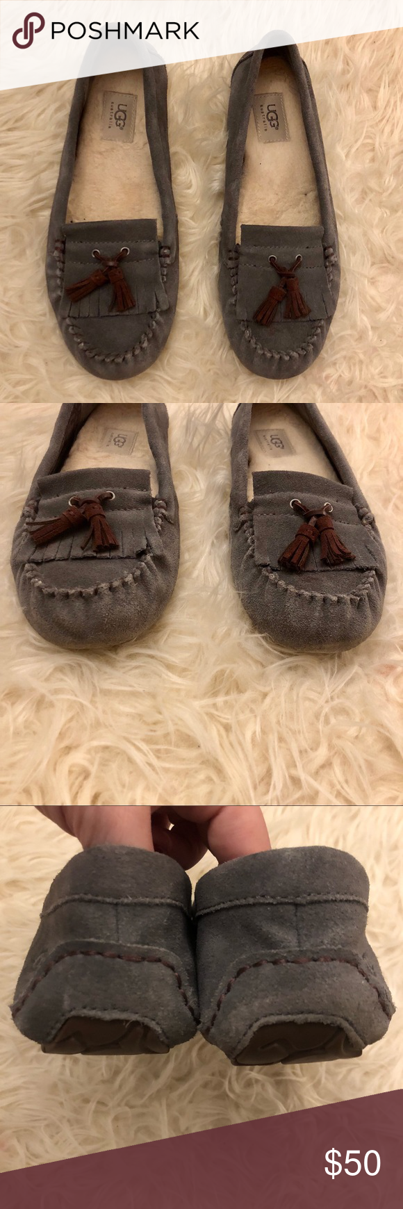 f82d11b6b49 UGG Gray Lizzy Moccasin Slipper Brand: UGG Size: Women's 10 Color ...