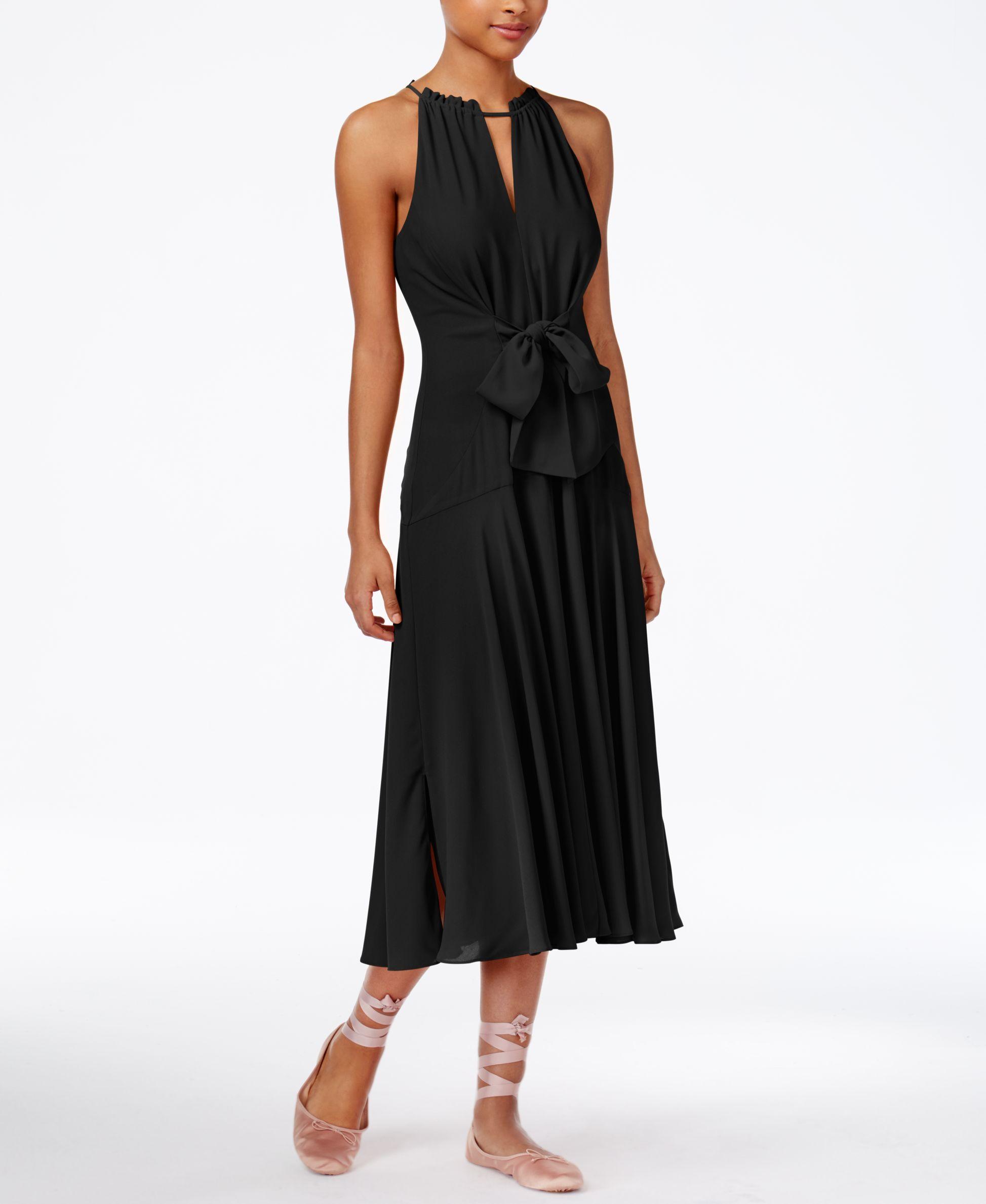 RACHEL Rachel Roy Claudette Tie-Front Midi Dress, Created for ...