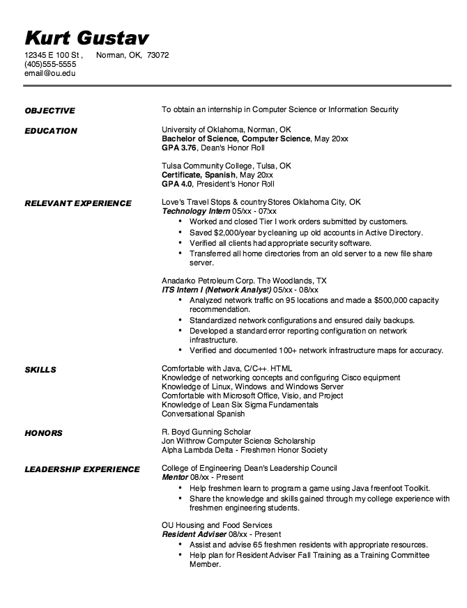Pin by latifah on Example Resume CV | Pinterest | Computer science ...