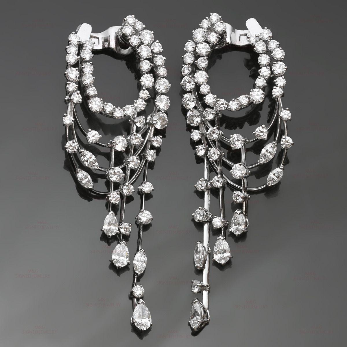 Van cleef arpels diamond white gold chandelier earrings gold van cleef arpels diamond white gold chandelier earrings image 2 aloadofball Images