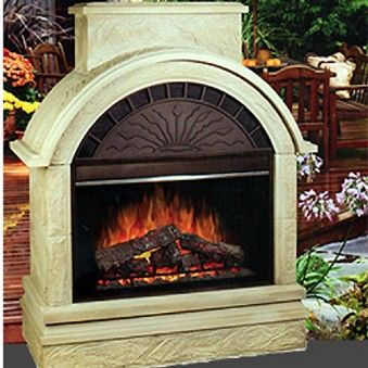 Electraflame Scottsdale Outdoor Electric Fireplace   Outdoor Fireplace    American Sale