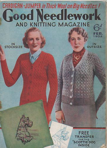 Good Needlework AND Knitting Magazine February 1938 Fashion |