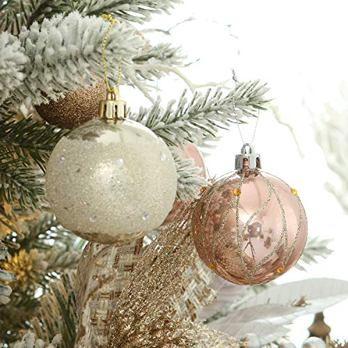 Sea Team 60mm 2 36 Delicate Contrast Color Theme Painting Glittering Christmas Tree Pendants Decorative Hanging Christmas Baubles Balls Ornaments Set 30 Pi Glitter Christmas Ornament Set Christmas